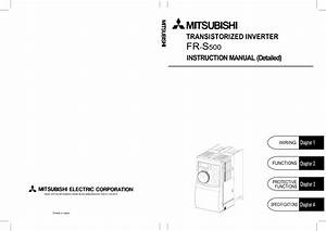 Mitsubishi Inverter Wiring Diagram