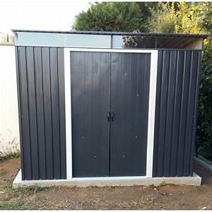 Abri De Jardin Metal Castorama : abri en m tal anthracite avec skylight 4 33m duramax ~ Dailycaller-alerts.com Idées de Décoration