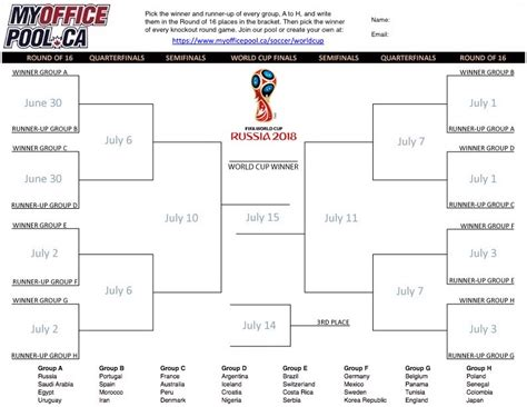 world cup bracket template world cup soccer pools myofficepool ca