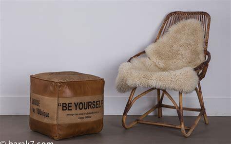 pouf industriel en cuir quot be yourself quot barak 39 7