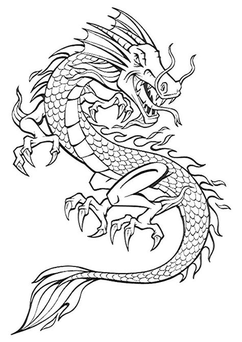 Free Printable Dragon Coloring Pages for Kids - Art Hearty in 2020 | Dragon coloring page