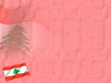 lebanon flag  powerpoint template
