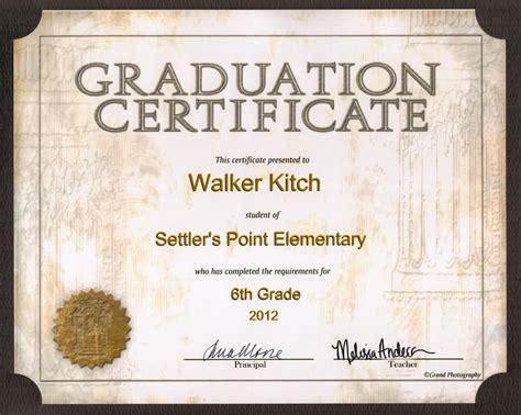 6th Grade Graduation Certificate Template Graduation Certificate Templates Car Interior Design