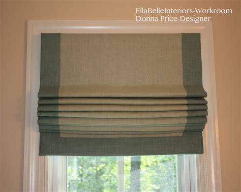 Bordered Roman Shades Burlap Fabric Window Blinds Choices