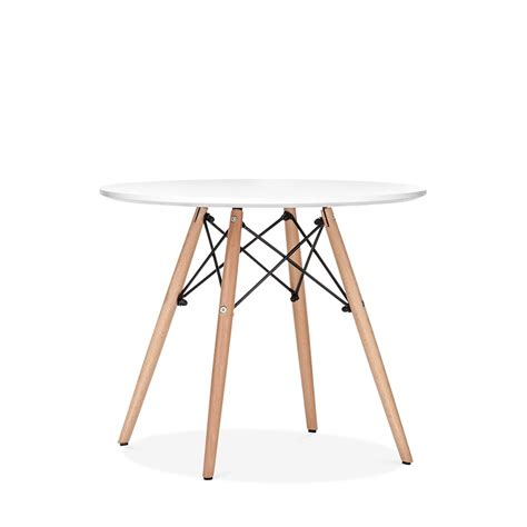 tables rondes salle a manger eames inspired dsw white table dsw dining