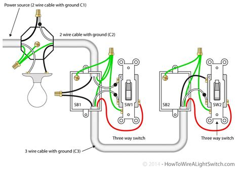 3 way switch with power feed via the light multiple 3 way switch with power feed via the light how to wire a