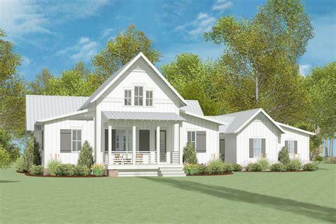exclusive modern farmhouse plan  breezeway attached garage lls architectural