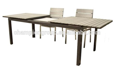 aluminium extension table outdoor polywood table