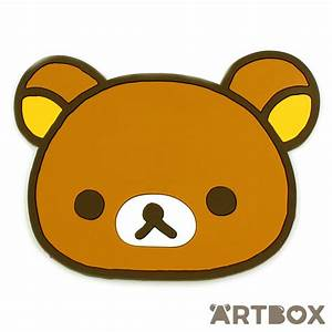 Buy San-X Rilakkuma Face Die-Cut Rubber Coaster at ARTBOX