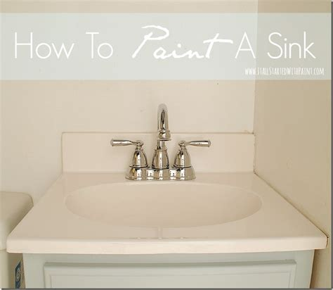 can you paint a sink how to paint a sink a giveaway it all started with paint