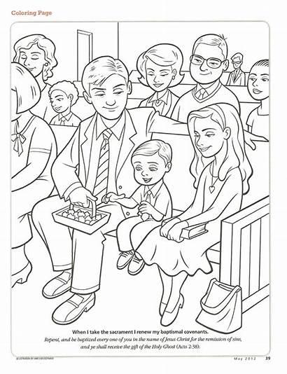 Coloring Lds Primary Pages Jesus Sacrament Friend