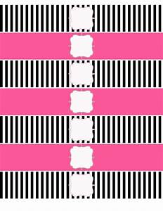 water bottle labels pink white and black water bottle With black and white water bottle labels