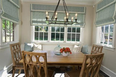 modern window treatments  dining room decorating ideas