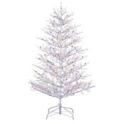 shop ge 5 ft indoor outdoor pre lit winterberry artificial christmas tree with 300 count clear