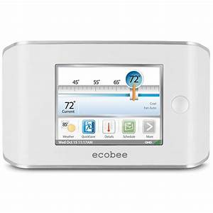 4 Heat    2 Cool Programmable Ecobee Smart Thermostat With