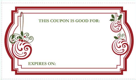 Coupon Template Blank Coupon Template Free Template Business