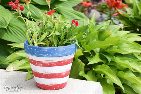 Recipes Patriotic Planting by Patriotic Flower Pot Craft Typically Simple