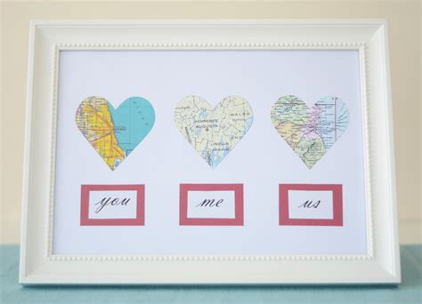 Valentine's Diy Map Hearts And My Irish Ancestry From