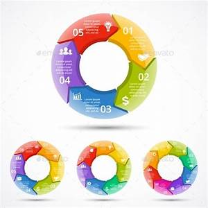 Circle Arrows Graph Infographic  Cycle 3d Diagram