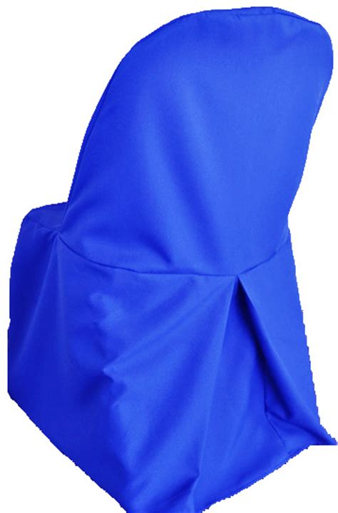 polyester folding chair covers royal blue