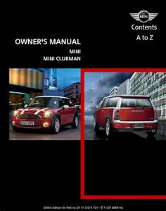 Mini Cooper 2008 Owner U0026 39 S Manual