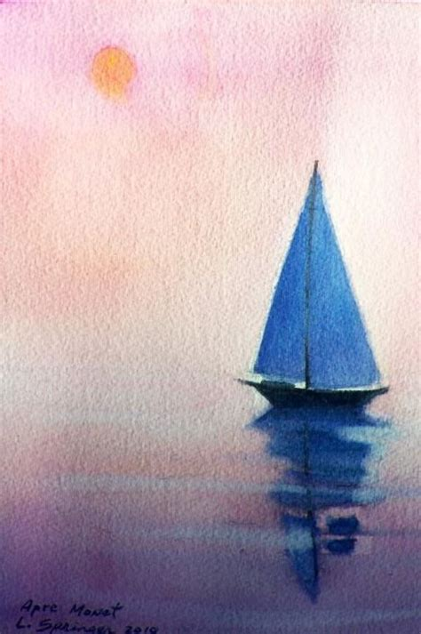 easy watercolor landscape painting ideas   akryl