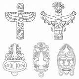 Totem Pole Coloring Animal Printable Templates Animals Poles Printablee Via Adults sketch template