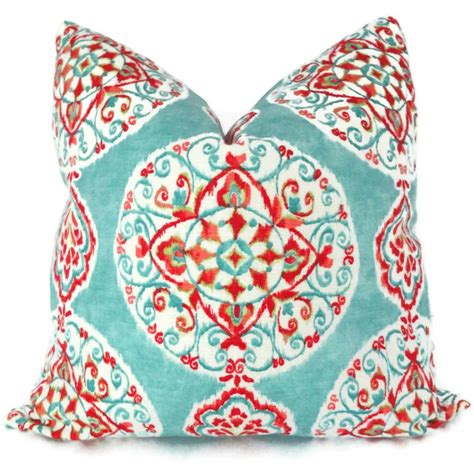 Turquoise Toss Pillows by Turquoise And Orange Suzani Decorative Pillow Cover Toss
