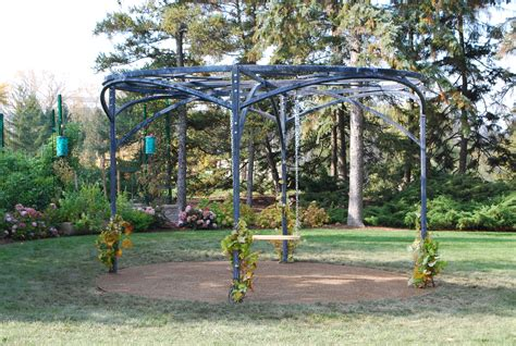 pergola branch circular steel pergolas backyard round studio garden outdoor diy canopy structures swing branches fire custom detroit grapes manufactured