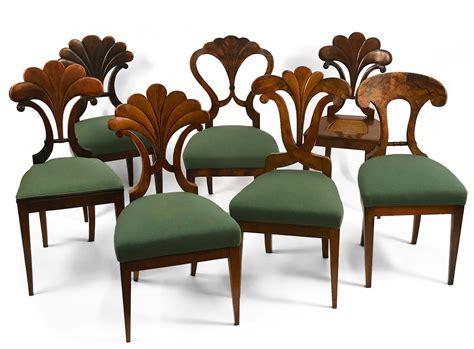chaise italienne assembled set of seven austrian biedermeier dining