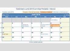 calendario junio 2018 para imprimir Idealvistalistco