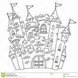 Castle Disney Coloring Outline Drawing Pages Candyland Outlined Candy Printable Illustration Line Fairy Walt Amazing Dreamstime Getdrawings Vector sketch template