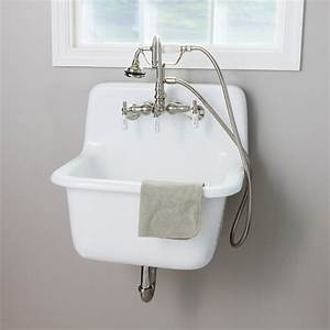 22, Inch, Cast, Iron, High, Back, Deep, Utility, Sink, In, 2020