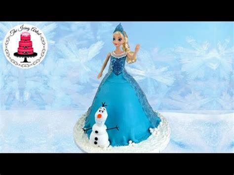 frozen princess elsa cake   olaf