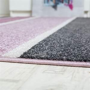 Designer Teppich Hochwertig Modern Linien Muster Meliert