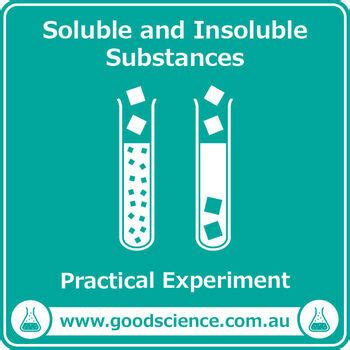 soluble  insoluble substances practical  good