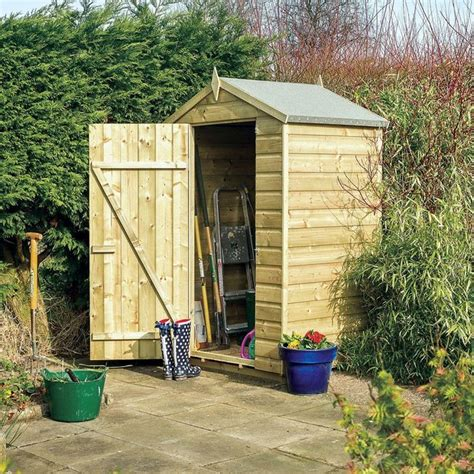 buy rowlinson wooden oxford shiplap shed 4ft x 3ft at