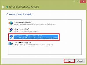 Connecting To Wireless Network Manually In Windows 8