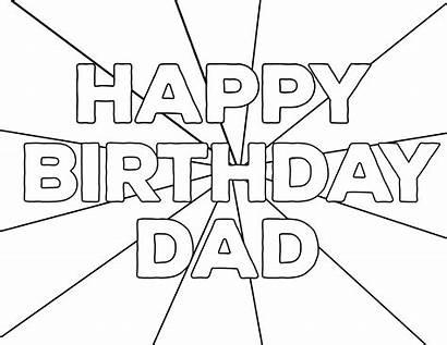 Coloring Birthday Happy Printable Dad Mom Sheets