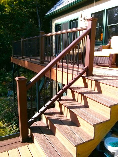 deck railing pictures stairs how to build a deck stair railing tribune content agency
