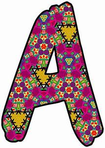 Artbyjean paper crafts individual letters and numbers for Individual letter pictures art