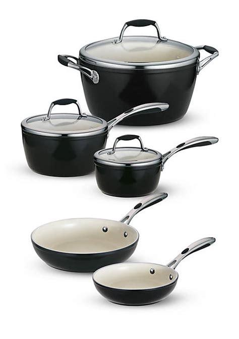 tramontina gourmet  piece deluxe ceramica  metallic black cookware set   belk