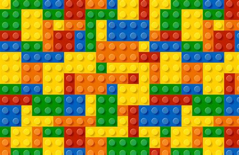 Colourful Lego Wallpaper Wall Mural