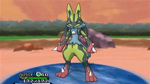 Pokemon X and Y - Shiny Mega Lucario ! - YouTube