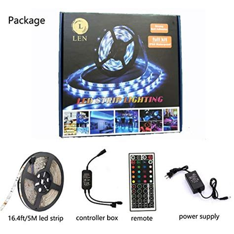 Led Len len led lights 16 4 waterproof 150leds 5050 rgb