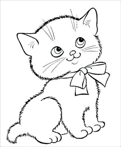 25 gambar mewarnai kucing untuk anak tk paud dan sd