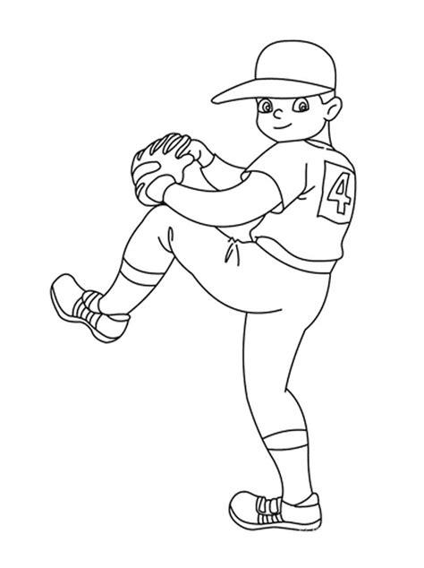 baseball field coloring pages printable  image