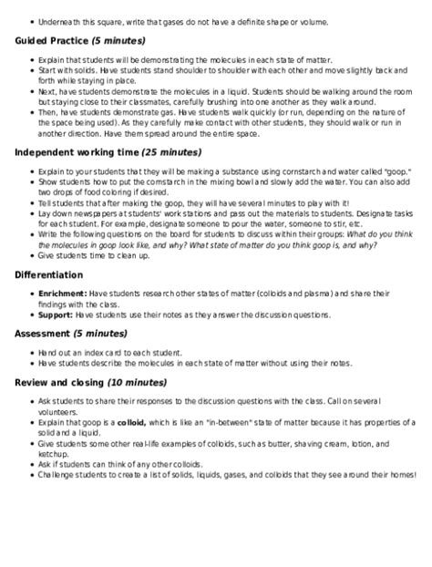 what s the matter solids liquids and gases lesson plan education lesson plan