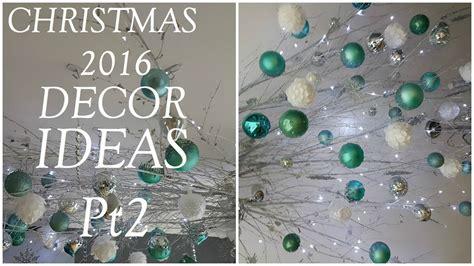 christmas decor ideas ceiling twigs  ornaments