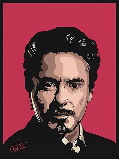 Portrait Robert Downey Jr Vector Illustration Digital